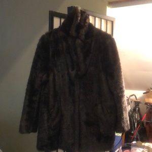 H&M Faux Fur Coat - Women's - Lightly Worn
